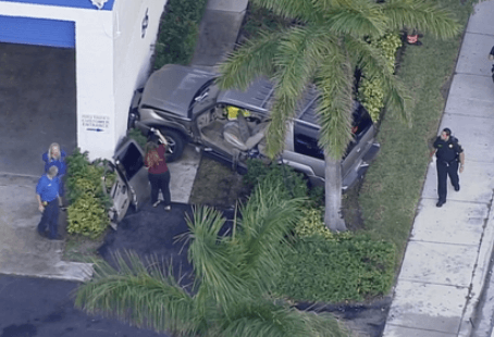 Broward Sheriff's Office Reports That An SUV Crashed Into A Wall In Deerfield Beach