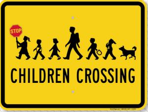 Children Crossing 3118